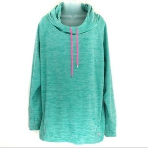 Lukka Lux Cowl Neck Athletic Hoodie Sweatshirt